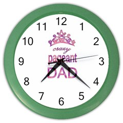 Crazy Pageant Dad Color Wall Clocks by Valentinaart
