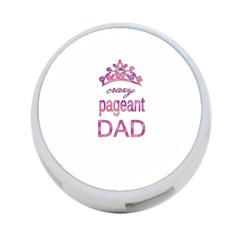Crazy Pageant Dad 4 Port Usb Hub (one Side) by Valentinaart