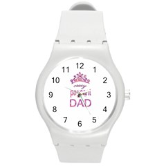 Crazy Pageant Dad Round Plastic Sport Watch (m) by Valentinaart