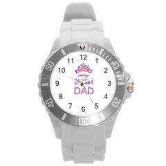 Crazy Pageant Dad Round Plastic Sport Watch (l) by Valentinaart