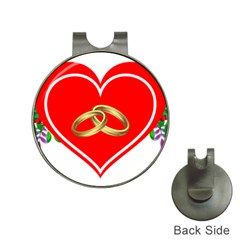 Heart Flowers Ring Hat Clips With Golf Markers