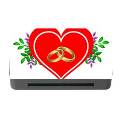 Heart Flowers Ring Memory Card Reader With Cf