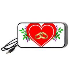 Heart Flowers Ring Portable Speaker (black)