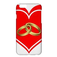 Heart Flowers Ring Apple Iphone 6 Plus/6s Plus Hardshell Case by Nexatart