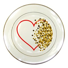 Heart Transparent Background Love Porcelain Plates by Nexatart