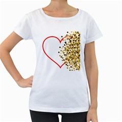 Heart Transparent Background Love Women s Loose Fit T Shirt (white)