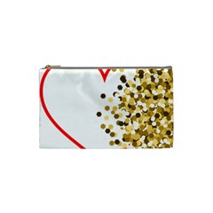 Heart Transparent Background Love Cosmetic Bag (small)  by Nexatart