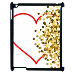 Heart Transparent Background Love Apple Ipad 2 Case (black)