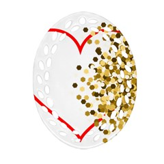 Heart Transparent Background Love Oval Filigree Ornament (two Sides)