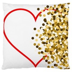 Heart Transparent Background Love Large Cushion Case (one Side)