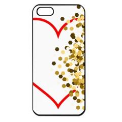 Heart Transparent Background Love Apple Iphone 5 Seamless Case (black) by Nexatart