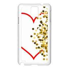 Heart Transparent Background Love Samsung Galaxy Note 3 N9005 Case (white)