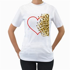 Heart Transparent Background Love Women s T Shirt (white)