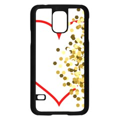 Heart Transparent Background Love Samsung Galaxy S5 Case (black) by Nexatart