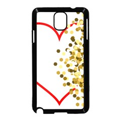 Heart Transparent Background Love Samsung Galaxy Note 3 Neo Hardshell Case (black)