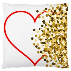 Heart Transparent Background Love Standard Flano Cushion Case (one Side)