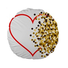 Heart Transparent Background Love Standard 15  Premium Flano Round Cushions by Nexatart