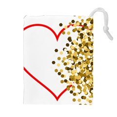 Heart Transparent Background Love Drawstring Pouches (extra Large)