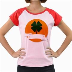 St Patricks Day Ireland Clover Women s Cap Sleeve T Shirt