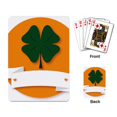 St Patricks Day Ireland Clover Playing Card by Nexatart