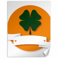 St Patricks Day Ireland Clover Canvas 18  X 24