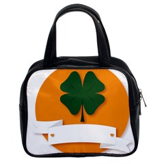 St Patricks Day Ireland Clover Classic Handbags (2 Sides)