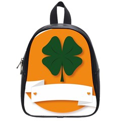 St Patricks Day Ireland Clover School Bags (small)  by Nexatart