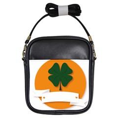 St Patricks Day Ireland Clover Girls Sling Bags by Nexatart