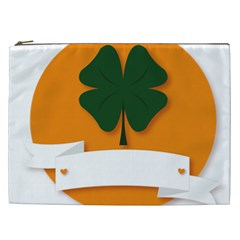 St Patricks Day Ireland Clover Cosmetic Bag (xxl)