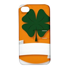 St Patricks Day Ireland Clover Apple Iphone 4/4s Hardshell Case With Stand