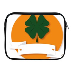 St Patricks Day Ireland Clover Apple Ipad 2/3/4 Zipper Cases by Nexatart