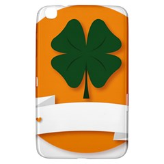 St Patricks Day Ireland Clover Samsung Galaxy Tab 3 (8 ) T3100 Hardshell Case  by Nexatart