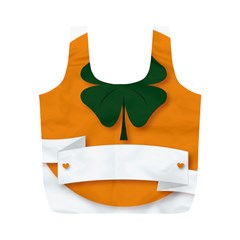 St Patricks Day Ireland Clover Full Print Recycle Bags (m)
