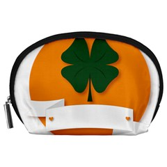 St Patricks Day Ireland Clover Accessory Pouches (large)