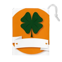 St Patricks Day Ireland Clover Drawstring Pouches (extra Large)