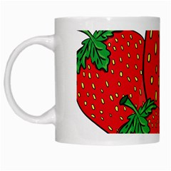 Strawberry Holidays Fragaria Vesca White Mugs by Nexatart