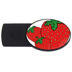 Strawberry Holidays Fragaria Vesca Usb Flash Drive Oval (2 Gb) by Nexatart