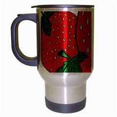 Strawberry Holidays Fragaria Vesca Travel Mug (silver Gray)