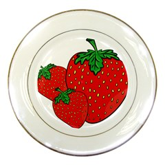 Strawberry Holidays Fragaria Vesca Porcelain Plates by Nexatart