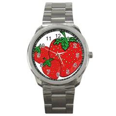 Strawberry Holidays Fragaria Vesca Sport Metal Watch by Nexatart