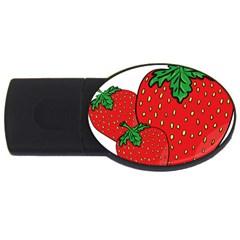 Strawberry Holidays Fragaria Vesca Usb Flash Drive Oval (4 Gb) by Nexatart