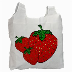 Strawberry Holidays Fragaria Vesca Recycle Bag (two Side)