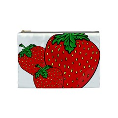 Strawberry Holidays Fragaria Vesca Cosmetic Bag (medium)  by Nexatart