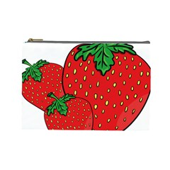 Strawberry Holidays Fragaria Vesca Cosmetic Bag (large)  by Nexatart