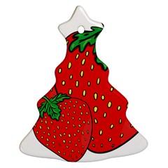 Strawberry Holidays Fragaria Vesca Ornament (christmas Tree)