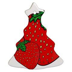 Strawberry Holidays Fragaria Vesca Christmas Tree Ornament (two Sides) by Nexatart