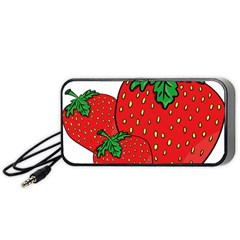 Strawberry Holidays Fragaria Vesca Portable Speaker (black) by Nexatart
