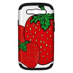 Strawberry Holidays Fragaria Vesca Samsung Galaxy S Iii Hardshell Case (pc+silicone) by Nexatart