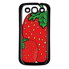 Strawberry Holidays Fragaria Vesca Samsung Galaxy S3 Back Case (black) by Nexatart