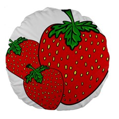 Strawberry Holidays Fragaria Vesca Large 18  Premium Flano Round Cushions by Nexatart